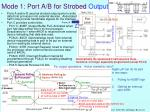 mode 1 port a b for strobed output