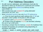 port address decoders