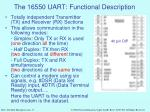 the 16550 uart functional description