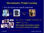 discriminative weight learning