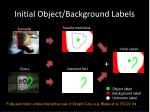 initial object background labels