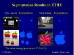 segmentation results on ethz