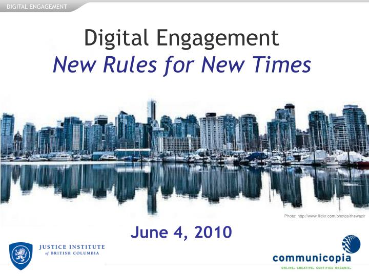 digital engagement new rules for new times n.