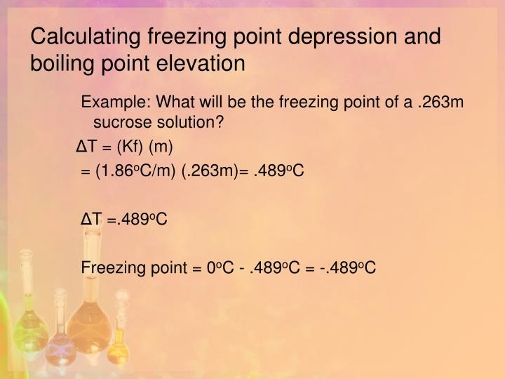 freezing point depression and boiling point