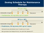 dosing schedule for maintenance therapy