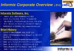 informix corporate overview
