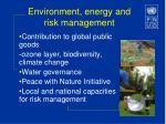 environment energy and risk management