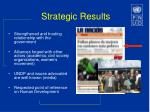 strategic results
