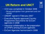 un reform and unct