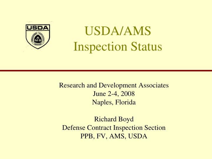 usda ams inspection status n.