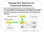 merging olc behaviors of concurrent subclasses