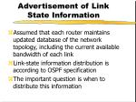 advertisement of link state information