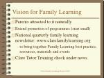 vision for family learning