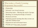 what makes a family learning programme successful