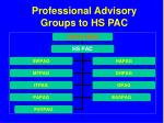 professional advisory groups to hs pac