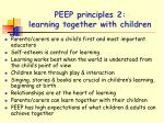 peep principles 2 learning together with children