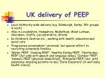 uk delivery of peep