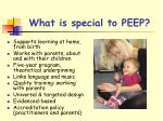 what is special to peep