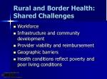 rural and border health shared challenges