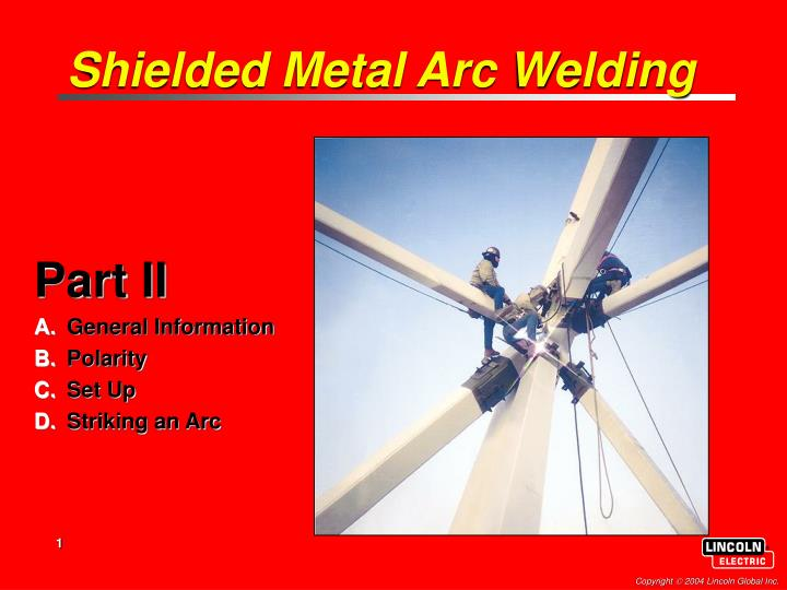 shielded metal arc welding n.