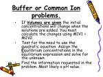 buffer or common ion problems1