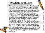 titration problems
