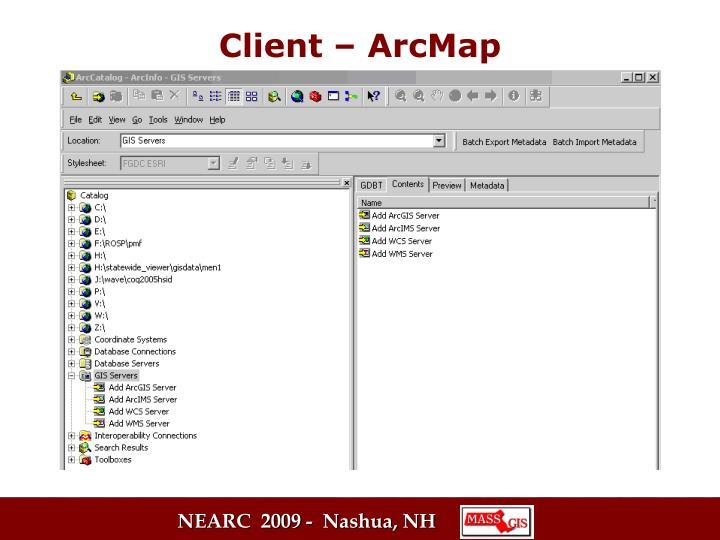 Client – ArcMap