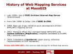 history of web mapping services at massgis
