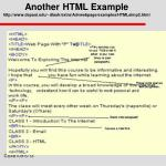 another html example http www depaul edu dlash extra advwebpage examples htmlsimp2 html