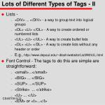 lots of different types of tags ii