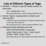 lots of different types of tags