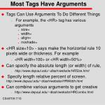 most tags have arguments