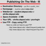 publishing on the web iii