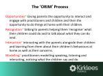 the orim process
