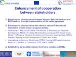 enhancement of cooperation between stakeholders