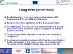 l ong term partnership