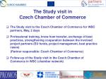the study visit in czech chamber of commerce
