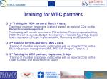 training for wbc partners