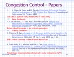 congestion control papers
