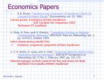 economics papers