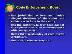 code enforcement board
