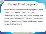 format email lanjutan