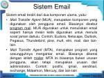 sistem email