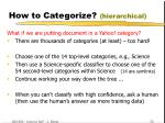 how to categorize hierarchical