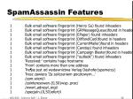 spamassassin features21