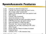 spamassassin features43