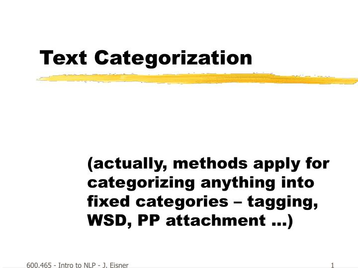 text categorization n.