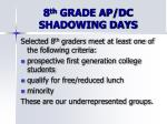 8 th grade ap dc shadowing days1
