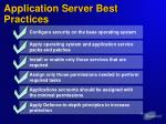 application server best practices