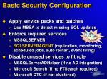 basic security configuration